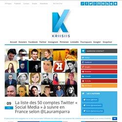 La liste des 50 comptes Twitter « Social Media » à suivre en France selon @Lauramparra