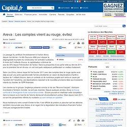 Areva : Les comptes virent au rouge, évitez