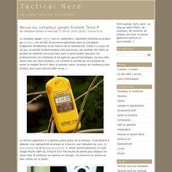 Revue du compteur geiger Ecotest Terra-P - Tactical Nerd