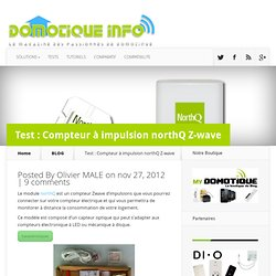 Test : Compteur à impulsion NorthQ Z-wave