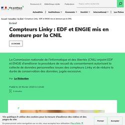 Compteurs Linky : EDF et ENGIE mis en demeure par la CNIL