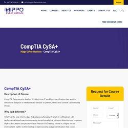 CompTIA CySA+ - Hippo Cyber Institute