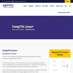 CompTIA Linux+ - Hippo Cyber Institute