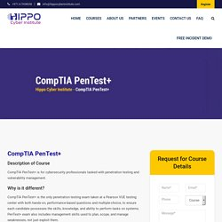 CompTIA PenTest+ - Hippo Cyber Institute
