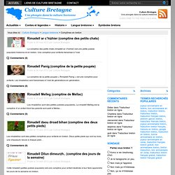 Comptines en breton, Culture Bretagne