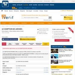 Société LE COMPTOIR DES AROMES à LE HAVRE (Chiffre d'affaires, bilans, résultat) avec Verif.com - Siren 478027030
