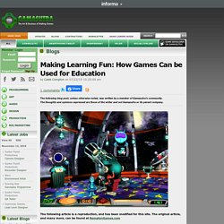 Caleb Compton's Blog - Making Learning Fun: How Games Can be Used for Education
