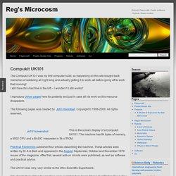Compukit UK101 - Reg's Microcosm
