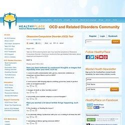 Obsessive-Compulsive Disorder (OCD) Test