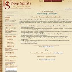 Obsessive-Compulsive Personality