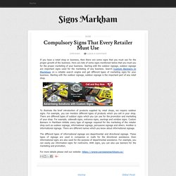 Compulsory Signs That Every Retailer Must Use ~ Signs Markham
