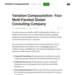 Variation Compusolution- Your Multi-Faceted Global Consulting Company