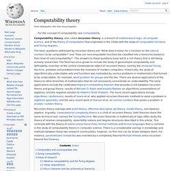 Computability theory