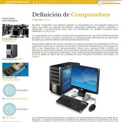 ¿Qué es Computadora? - Su Definición, Concepto y Significado