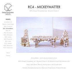 Design Computation Lab - RC4 - MickeyMatter