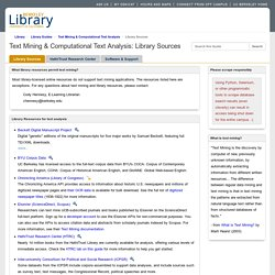 Library Sources - Text Mining & Computational Text Analysis - Library Guides at UC Berkeley