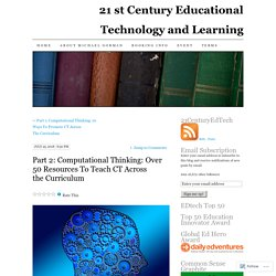 Part 2: Computational Thinking: Over 50 Resources To Teach CT Across the Curriculum