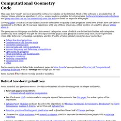 Computational Geometry Code