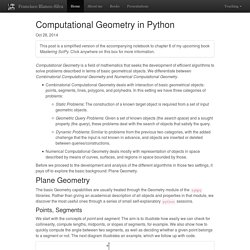 Computational Geometry in Python