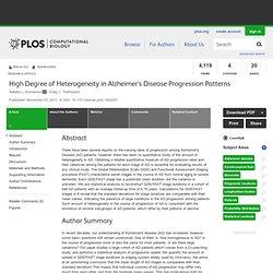 High Degree of Heterogeneity in Alzheimer's Disease Progression Patterns