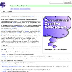 CCNBook/Main - Computational Cognitive Neuroscience Wiki