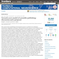 Toward a New Model of Scientific Publishing: Discussion and a Proposal | Frontiers in Computational Neuroscience