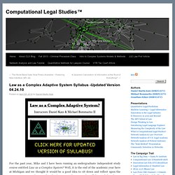 Law as a Complex Adaptive System Syllabus -Updated Version 04.24