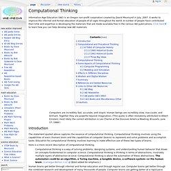 Computational Thinking - IAE-Pedia