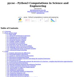 pycse - Python Computations in Science and Engineering