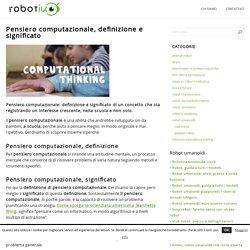 Pensiero computazionale: definizione e significato
