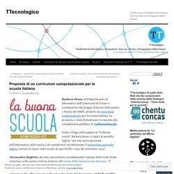 Proposta di un curriculum computazionale per la scuola italiana