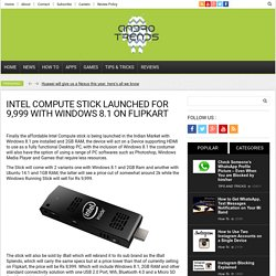Intel Compute Stick Launched for 9,999 with Windows 8.1 on Flipkart