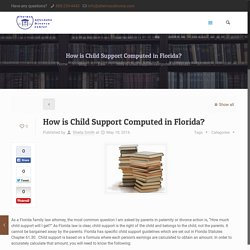 How is Child Support Computed in Florida?
