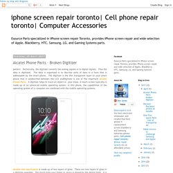 Alcatel Phone Parts – Broken Digitizer