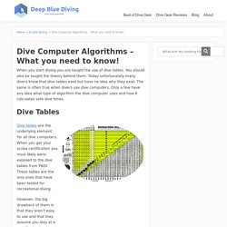 Dive Computer Algorithms – What you need to know! - Scuba Diving Gear