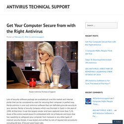 Get Your Computer Secure from with the Right Antivirus