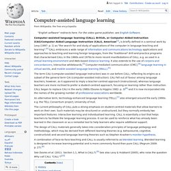 Computer-assisted language learning - Wikipedia