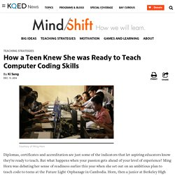 How a Teen Knew She was Ready to Teach Computer Coding Skills