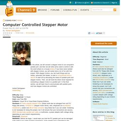 Computer Controlled Stepper Motor