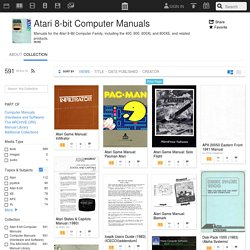 Atari 8-bit Computer Manuals : Free Texts : Download & Streaming