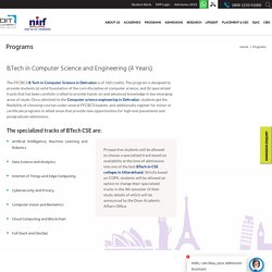 BTech CSE specialization in Database administration