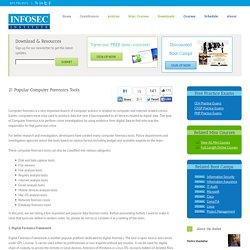 21 Popular Computer Forensics Tools