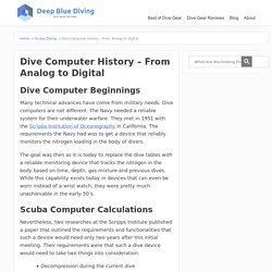 Dive Computer History – From Analog to Digital - Scuba Diving Gear