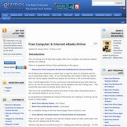 Free Computer & Internet Books Online