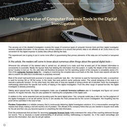 What is the value of Computer Forensic Tools in the Digital Investigation - Paraben