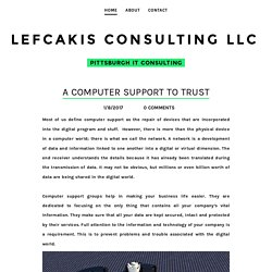 A Computer Support to Trust - Lefcakis Consulting LLC​