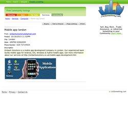 Mobile App London