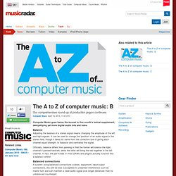 The A to Z of computer music: B