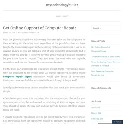 Get Online Support of Computer Repair