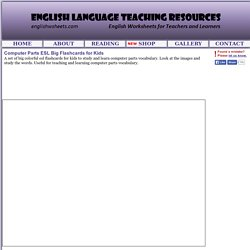 Computer Parts ESL Big Flashcards for Kids